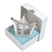 StephanBaby Royalty Crown Picture Frame; Blue