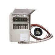 Reliance Controls Pro/Tran 50-Amp 6-Circuit 2 Manual Transfer Switch with Optional Power Inlet