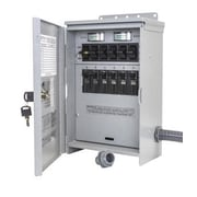 Reliance Controls Pro/Tran Outdoor 50-Amp 6-Circuit 2 Manual Transfer Switch with CS6375 Power Inlet