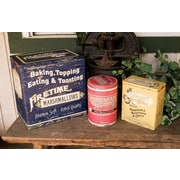 OhioWholesale 3 Piece Old Advertising Food Tins Set