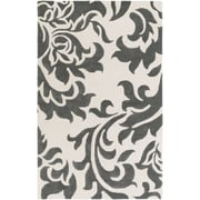 Artistic Weavers Lounge Heidi Hand Tufted Dark Grey/Off-White Area Rug; 5' x 8'