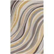 Artistic Weavers Lounge Carmen Hand Tufted Grey/Gold Area Rug; 5' x 8'