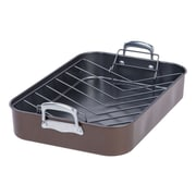 MAKER Homeware 12.4'' Heavy Duty Nonstick Roaster and Rack