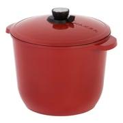 MAKER Homeware SmartSteam  12 QT Classic Cookware; Red