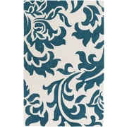 Artistic Weavers Lounge Heidi Hand Tufted Teal/Off-White Area Rug; 8' x 10'