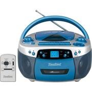 Hamilton Buhl (MPC-5050PLUS) USB/MP3/CD/Cassette/AM/FM Radio Boombox, Blue/Silver