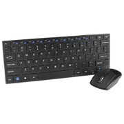 SIIG® JK-WR0H12-S1 USB Wireless Slim-Duo Keyboard and Optical Mouse Combo, Black