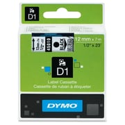 "Dymo 45010 1/2"" D1 Label Tape, Black On Clear"