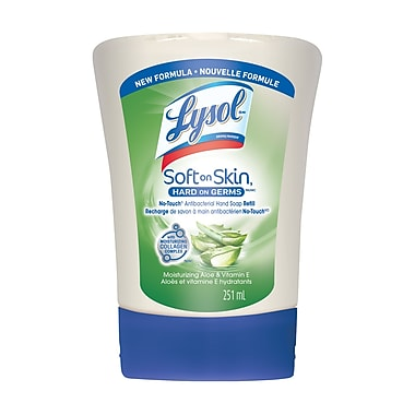 Lysol No-Touch Antibacterial Hand Soap Refill, Moisturizing Aloe Vera & Vitamin E, 251 mL