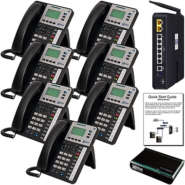 Xblue X50 System Bundle with 7 X3030 VoIP Telephones