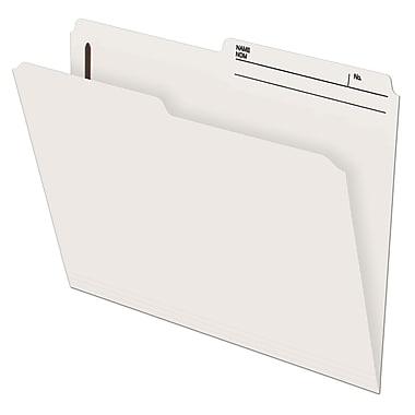 Pendaflex® Slimtrim™ Fastener Folder with # 1 Fastener Position, 2 Prong, Letter Size, Ivory