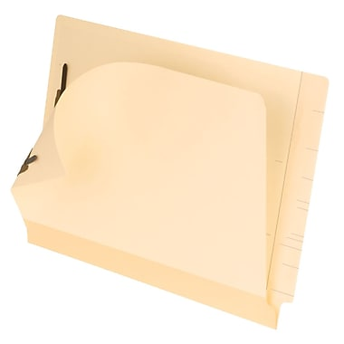 Pendaflex® Laminated End-Tab Folders with # 1 and 3 Fastener Position, Letter Size, Manila