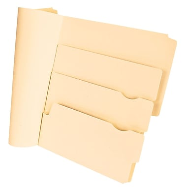 Pendaflex Divide It Up® Multi-Section File Folders, Manila, 24/Pack