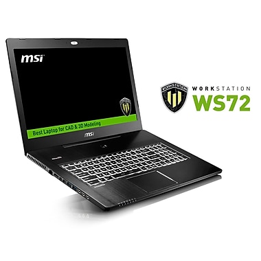 MSI Workstation Laptop (WS72 6QJ-059CA), 17.3