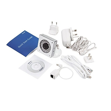 Y-Cam Cube YCWHD6 HD 1080 Wireless IP Camera with Day/Night, White