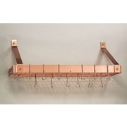 Old Dutch Wall Mounted Pot Rack with Grid; Copper