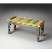Butler Artifacts Rao Painted Wood Bench