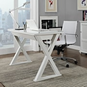 Home Loft Concepts Executive Writing Desk; White