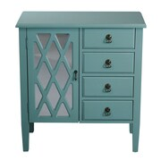 Heather Ann 4 Drawer Cabinet; Tourquoise