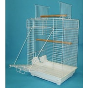 YML Open Play Top Small Parrot  Bird Cage; White