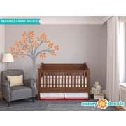 Sunny Decals Beautiful Tree Wall Decal; Orange