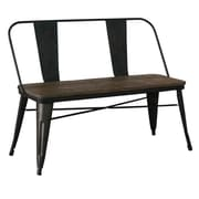 !nspire Industrial Style Bench; Black