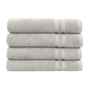 Linum Home Textiles Denzi 4 Piece Hand Towel Set (Set of 4); Grey