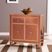 Wildon Home   Prisco Mirrored Accent Cabinet; Bronze