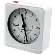 Marathon Watch Company Desk Alarm Clock; White