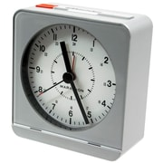 Marathon Watch Company Desk Alarm Clock; Silver