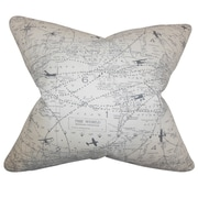 The Pillow Collection Caily Typography Cotton Throw Pillow; 18'' x 18''