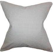 The Pillow Collection Xandy Plaid Cotton Throw Pillow; 18'' x 18''