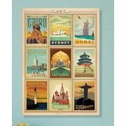 Americanflat Framed World Travel Vintage Advertisement