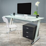 Home Loft Concepts Beta Writing Desk; White
