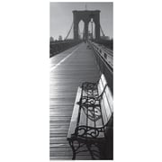 Star Creations ''Brooklyn Bridge Benches'' Photographic Print on Wrapped Canvas