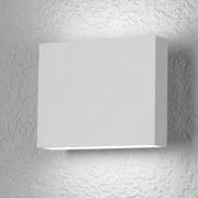 LumenArt Alume 1 Light Outdoor Flush Mount; White