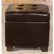 NOYA USA Classic Storage Ottoman; Brown