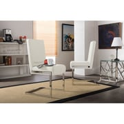 Wholesale Interiors Baxton Studio Toulan Parsons Chair (Set of 2); White