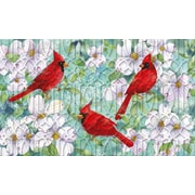 Evergreen Enterprises, Inc Cardinals and Dogwood Embossed Mat