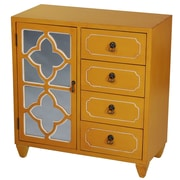 Heather Ann 4 Drawer Cabinet; Yellow