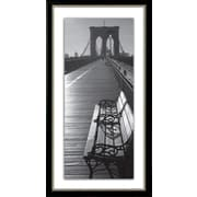 Star Creations ''Brooklyn Bridge Benches'' Framed Photographic Print