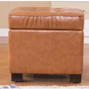 NOYA USA Classic Storage Ottoman; Saddle Brown