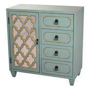 Heather Ann 4 Drawer Cabinet; Tourquoise