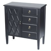 Heather Ann 4 Drawer Cabinet; Black