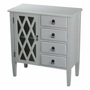 Heather Ann 4 Drawer Cabinet; Grey