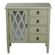 Heather Ann 4 Drawer Cabinet; Cream