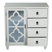 Heather Ann 4 Drawer Cabinet; White