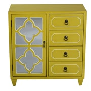 Heather Ann 4 Drawer Cabinet; Green