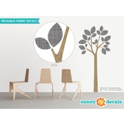 Sunny Decals Modern Tree Wall Decal; Black