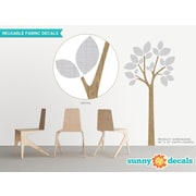 Sunny Decals Modern Tree Wall Decal; Gray